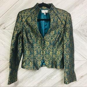 Badgley Mischka   Vintage Jacquard Riding Jacket